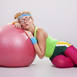 ballon-femme-fatigue-sport-repos